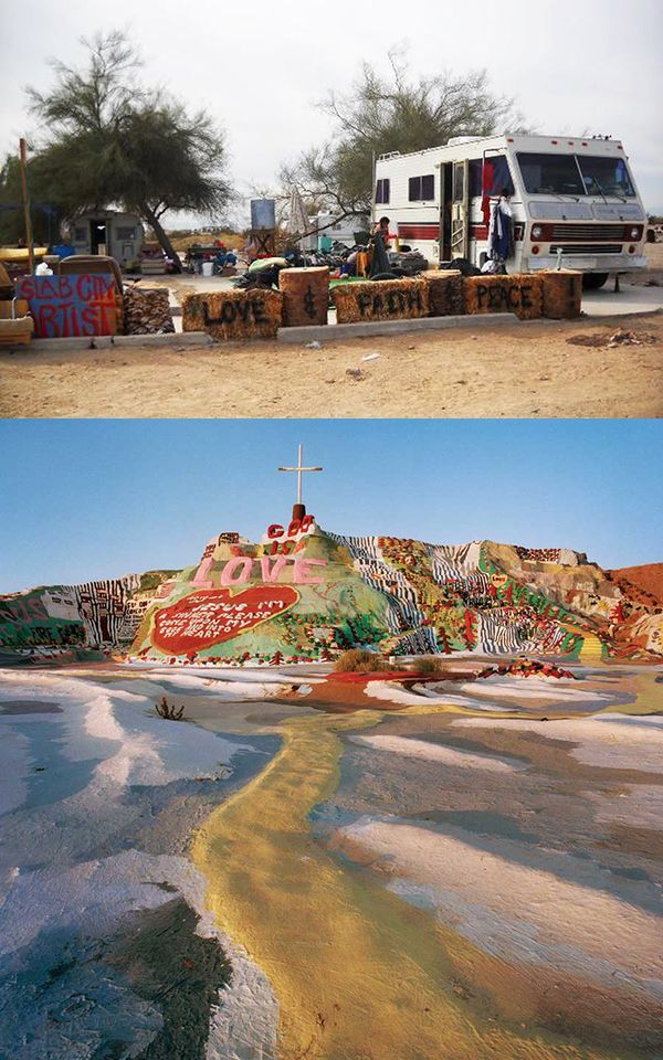 A Place In California That Is Completely Off The Grid Slab City The Slabs Is A Campsite Inhabited By Rv Users And Squatters From Across America Se Ciudades