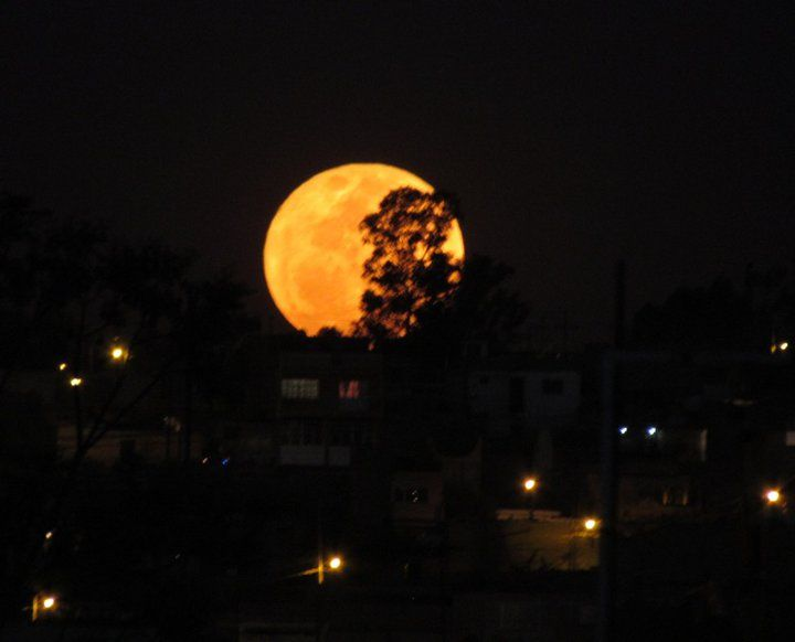 Super luna foto tomada en México