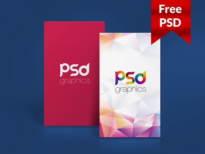 Vertical Business Card Mockup Free PSD | free file / freebie by ...