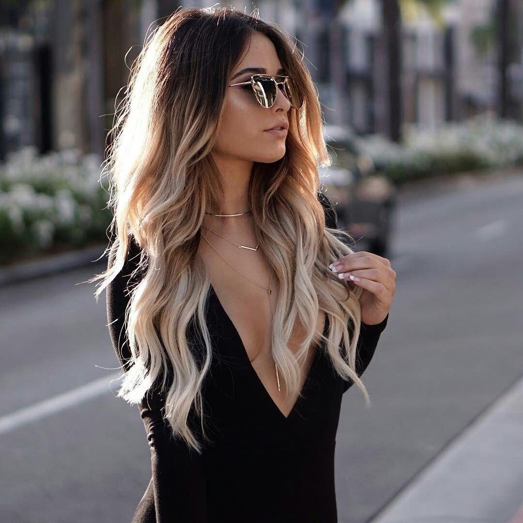 Modische Haarfarbe 2019 für langes Haar: Grundlegende Trends und Trends auf dem Foto #longhair