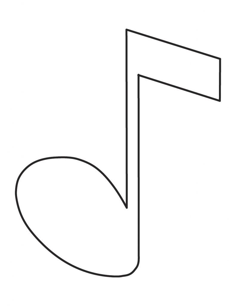 image regarding Music Note Printable identified as Free of charge Printable Tunes Observe Coloring Internet pages For Young children mini