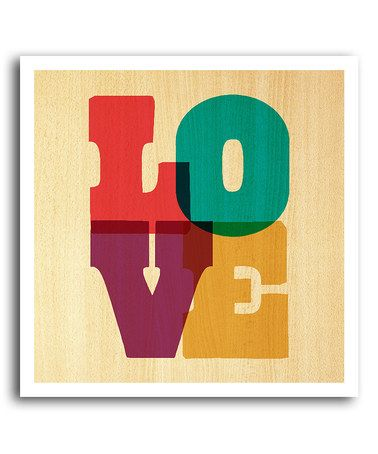 This \'LOVE\' Letters Art Print by BirdRow is perfect! #zulilyfinds ...