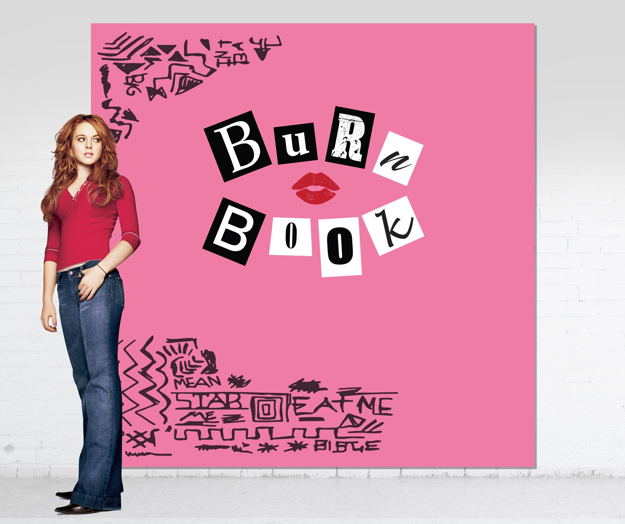 Mean Girls Theme Party Backdrop Burn Book Photo Booth Etsy Girls Party Themes Mean Girls Party Backdrops For Parties