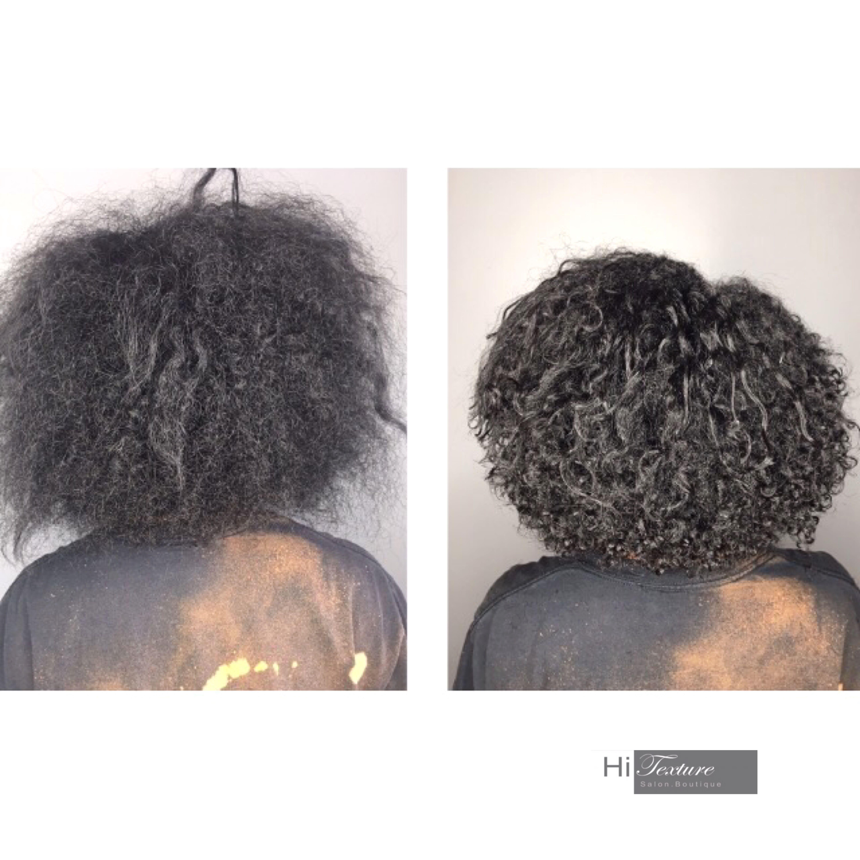 Before After Devacut By Tiffany Devacut Natural Hair Salons Natural Hair Styles Texturizer On Natural Hair