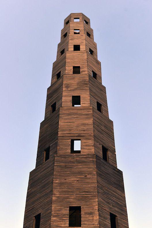 Pezo von Ellrichshausen Constructs Temporary Wooden Tower in Paris' Jardin des Tuileries