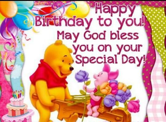 Pin by FairyJulie on Happy Birthday Greetings Pinterest – Pooh Birthday Cards