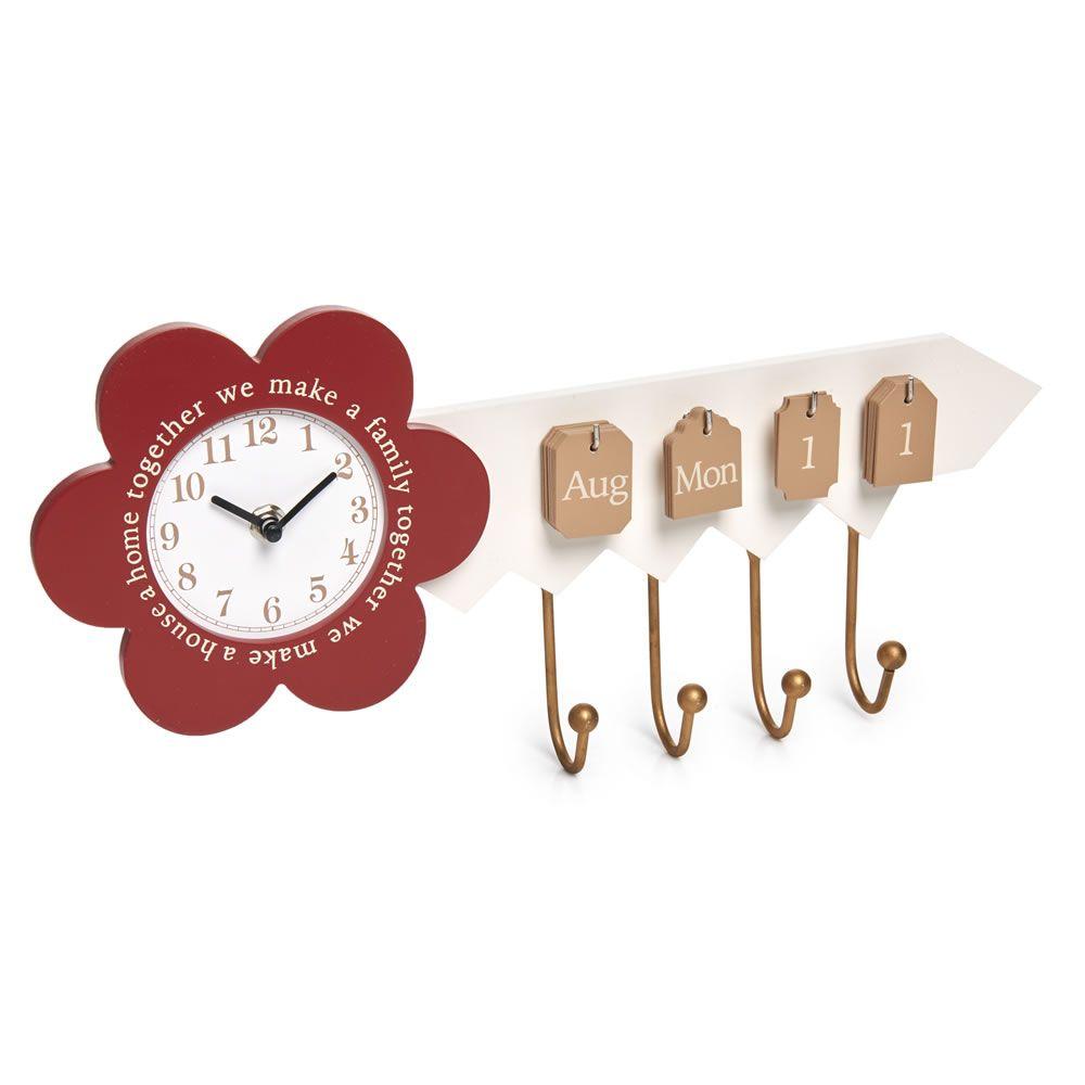 Wilko Key Shaped Clock And Calendar