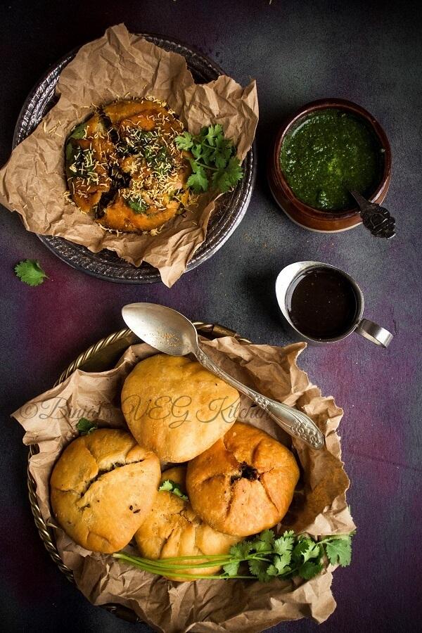 matar kachori binjal s veg kitchen recipe in 2020 indian food recipes food vegetarian snacks on hebbar s kitchen kachori id=23238