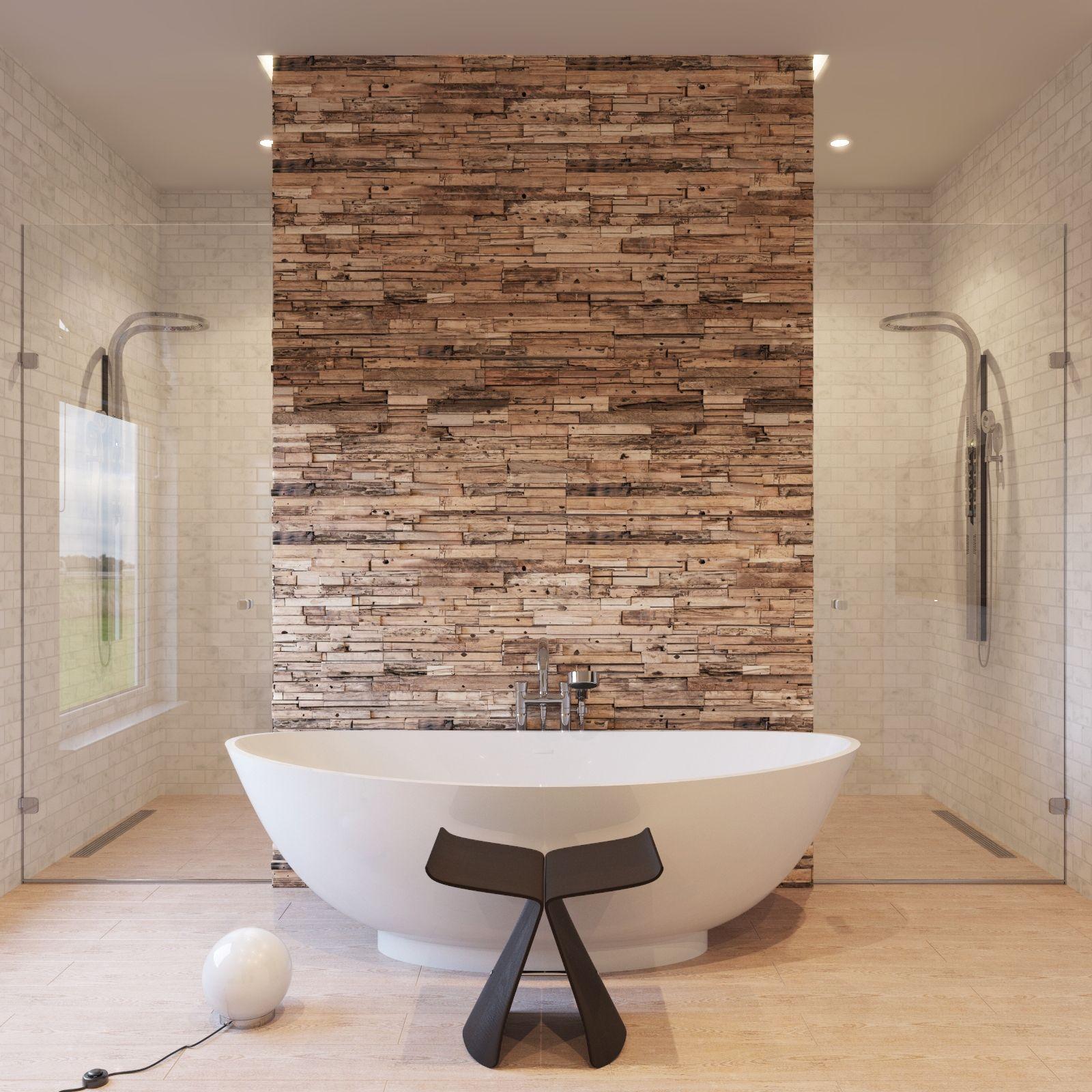 Wood Cladding Bathroom Walls: Reclaimed Teak Wall Panels. Www.teaknco.com