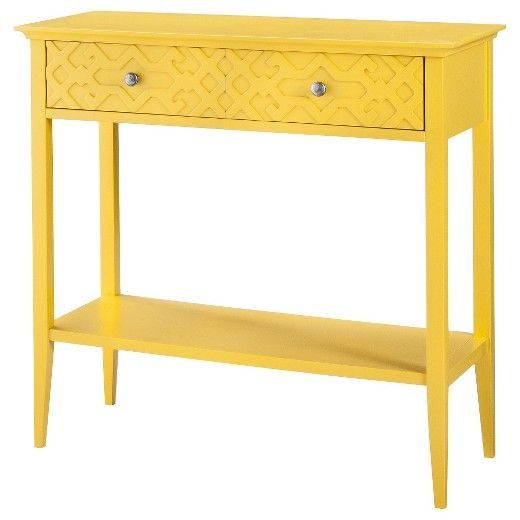 Lovely Threshold Fretwork Console Table