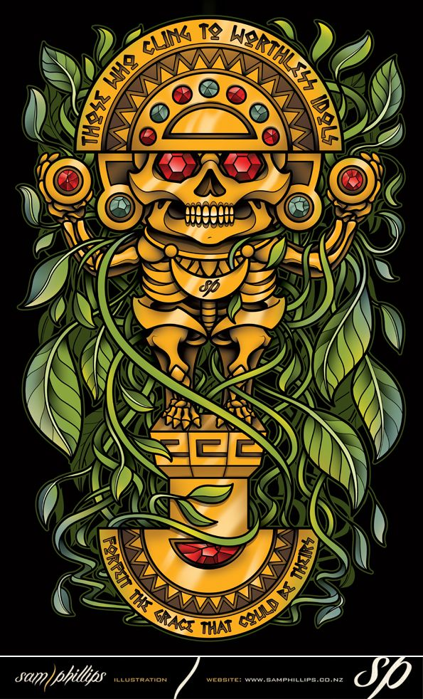 Inca Sun God Totem By Sam Phillips Nziantart On Deviantart