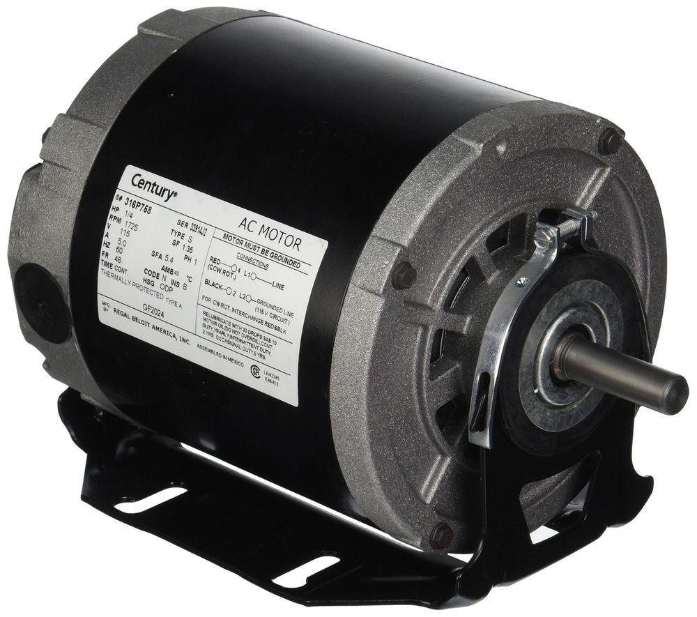 48//56 Frame 1725 RPM ODP Belt Drive Blower Electric Motor 1//2 hp 115 volts