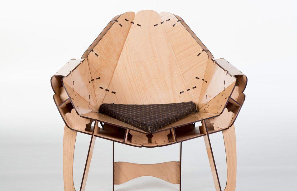 Flat Pack Freeform Armchair
