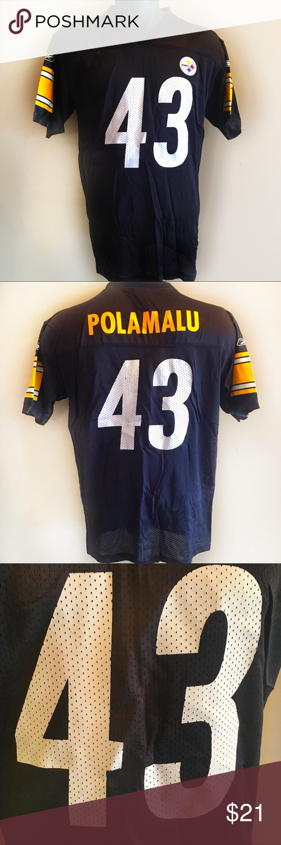 50679cd7 Pittsburgh Steelers Troy Polamalu NFL Jersey YXL Pittsburgh Steelers ...