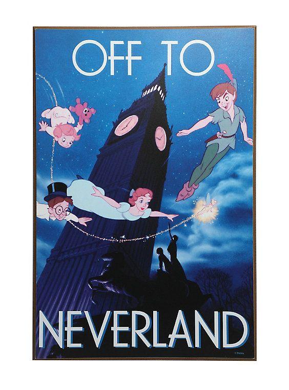 Disney Peter Pan Off To Never Land Wood Wall Art Disney Wall Art Wood Wall Art Wall Art