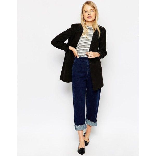 ASOS Ultimate Slim Coat (53 AUD) via Polyvore featuring outerwear, coats, lapel coat, asos coats, slim coat, asos and slim fit coat