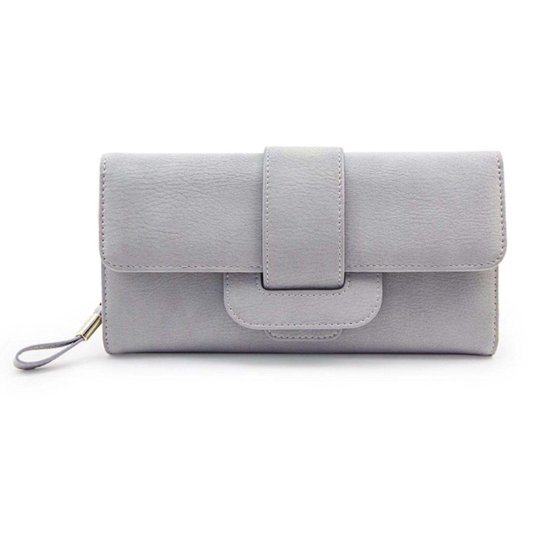 c693d4b4f33c Women Large Capacity Zipper Long Clutch Wallet Leather Lady Elegant ...