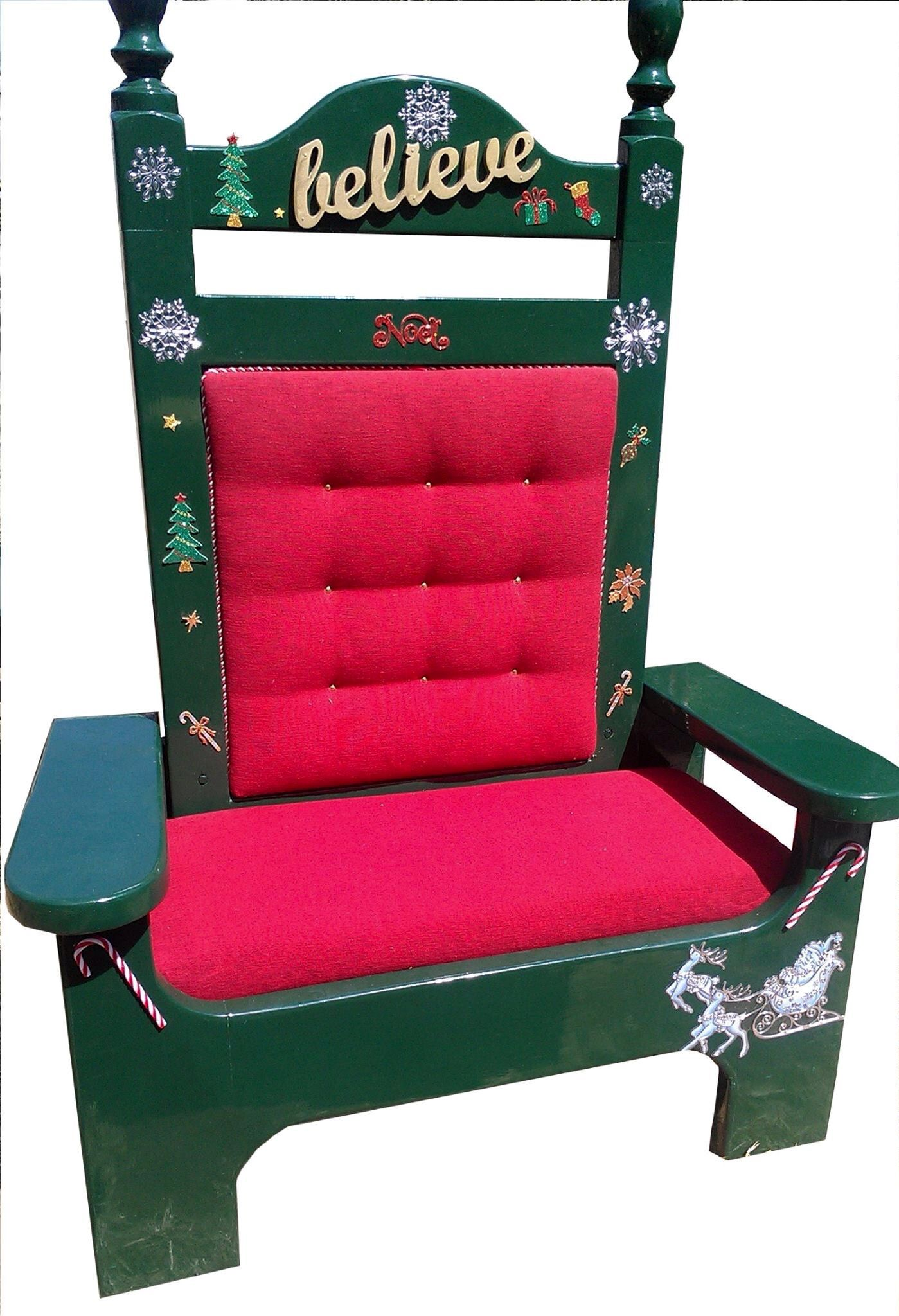 santa claus chair folding fabric padded ion loxton 39s photo sets and props
