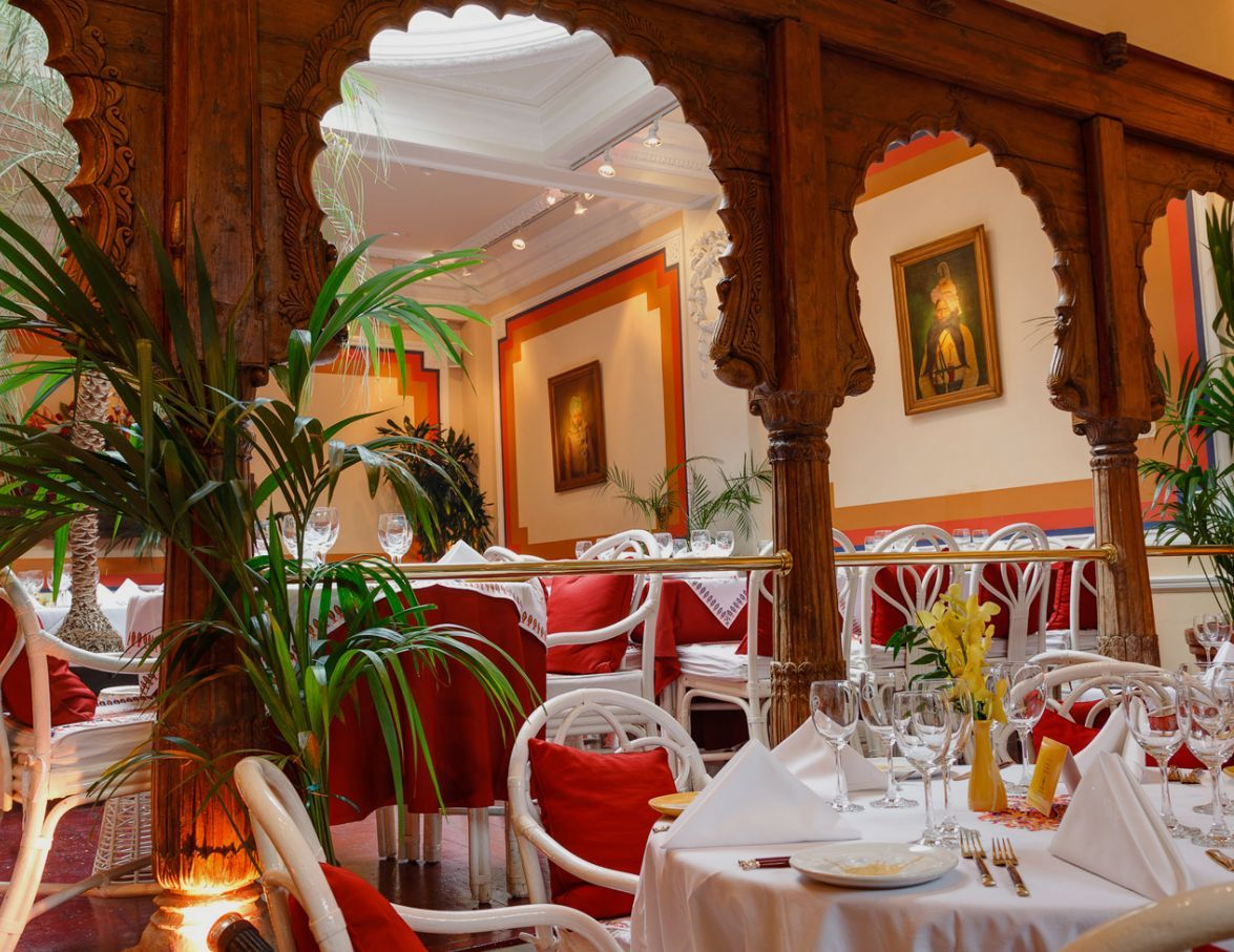 cool-indian-restaurant-interior-design-ideas-with-arched-doorway-for ...