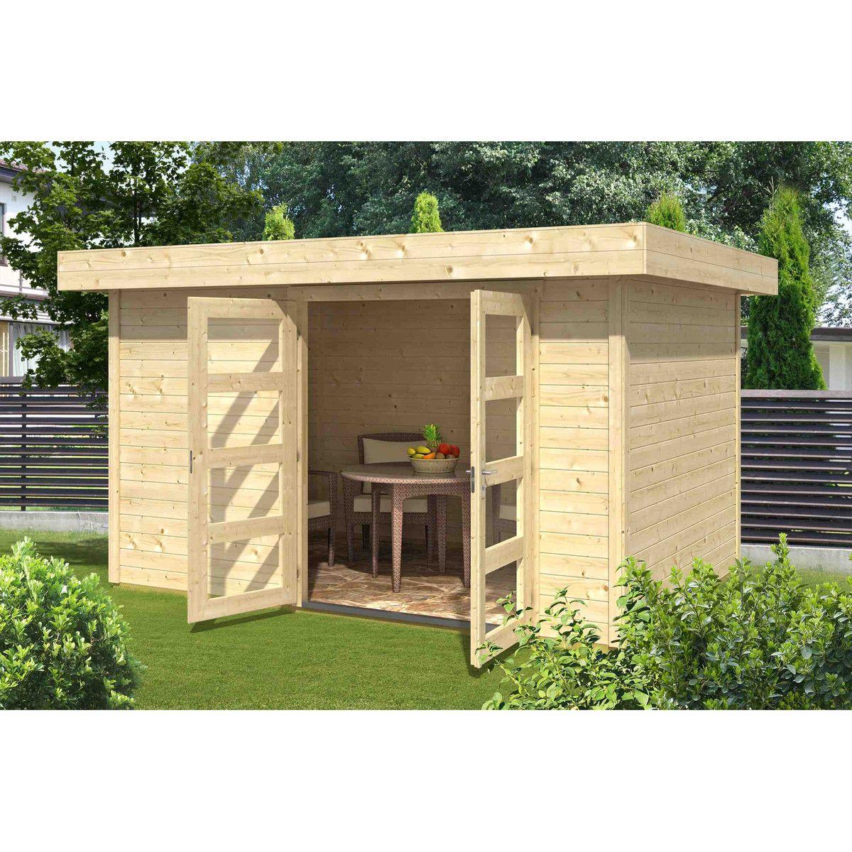 Abri de jardin bois INKA 4 / 8.42m² / 28mm | Abri de jardin bois ...