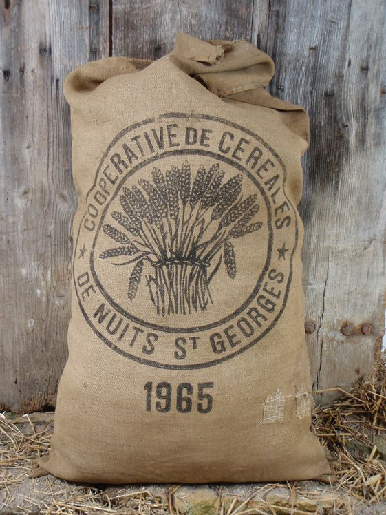 Over 50 Years Old Thisis Burlap Flour Bag From An French Mill