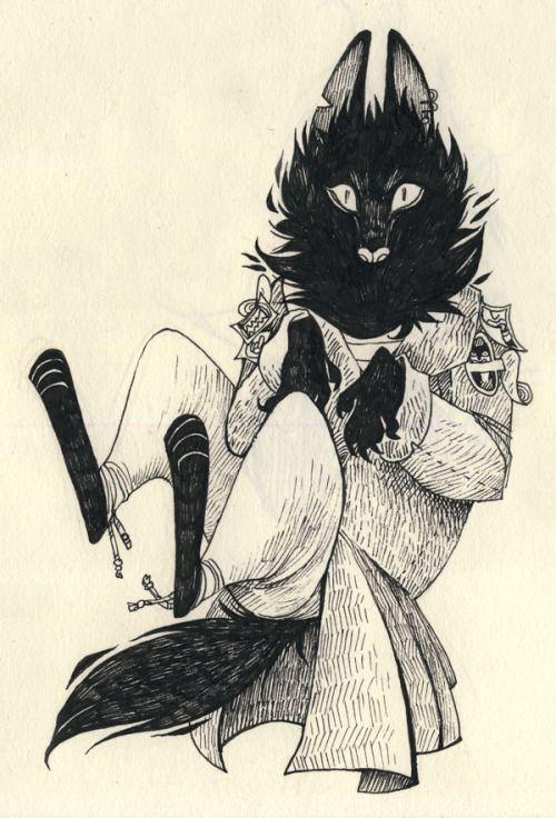 Domestic werewolf - credit to leppu.tumblr.com