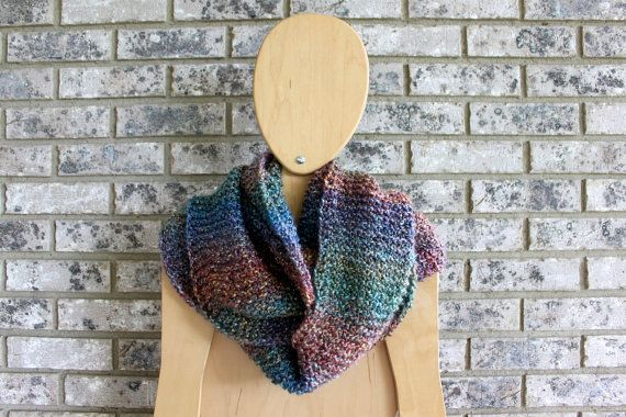 Infinity Scarf - Rainbow Multi on Etsy, $40.00