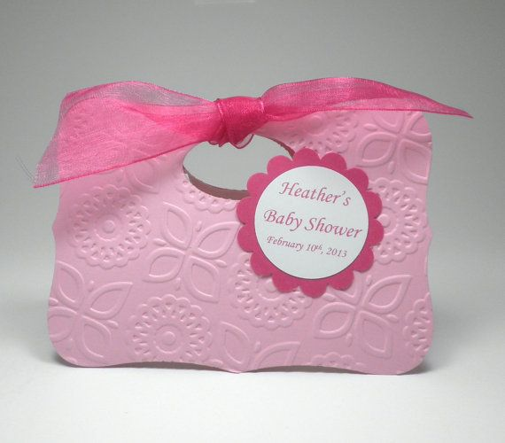 Pretty In Pink Baby Girl Shower Favor Bag Box By Fairmontfavours, $2.50