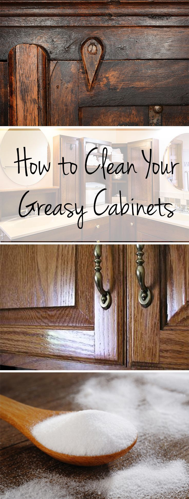 The Easy Way to Clean Greasy Cabinets   Cleaning hacks ...