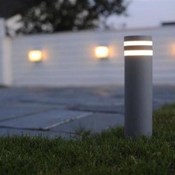 Modische Eco Light Design Aussenwegeleuchte Anthrazit Lutec 7204803118 Sockelleuchte Aussenwandbeleuchtung Strassenlaterne