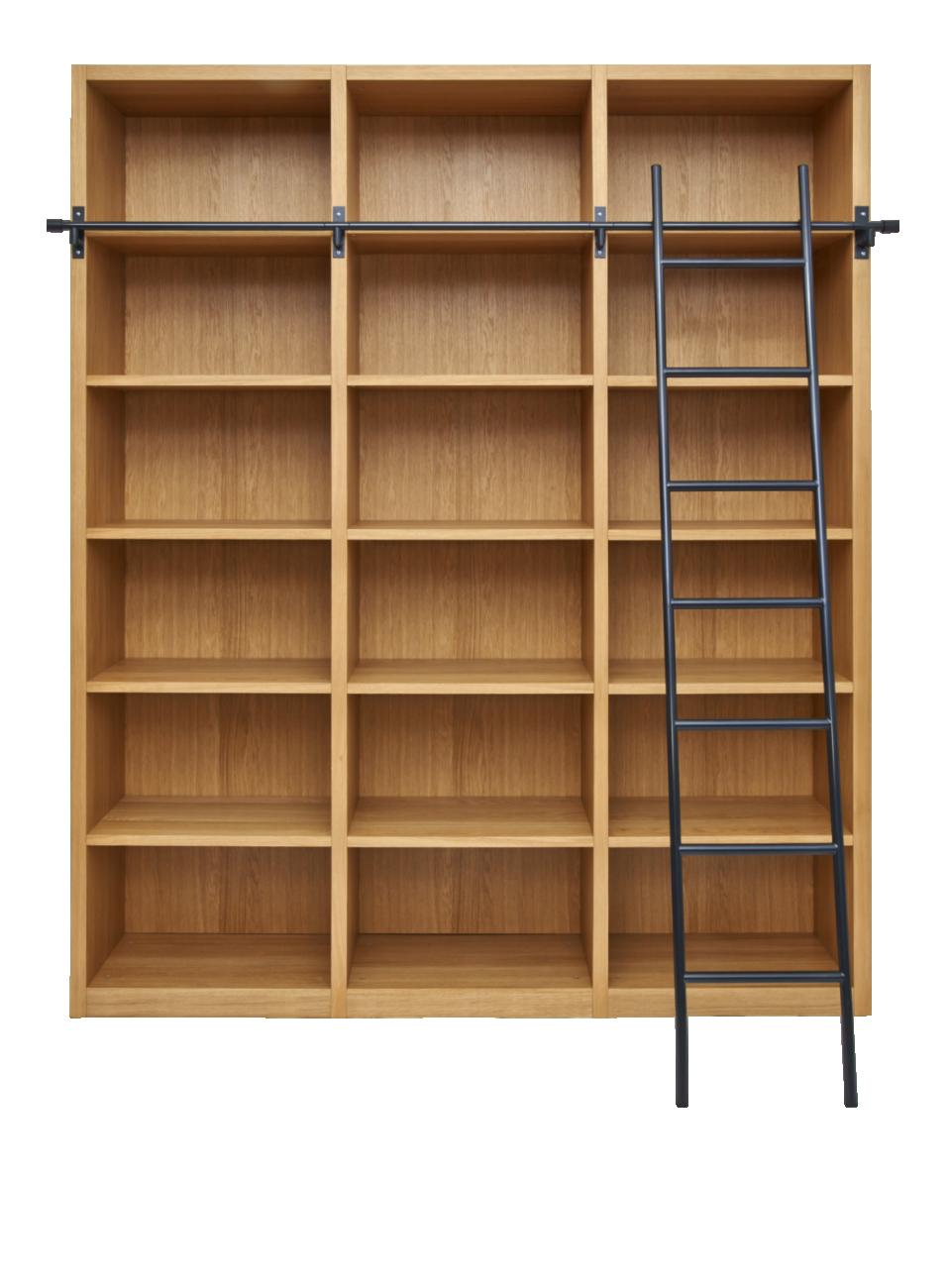 chêne son Camus avec en en Bibliothèque échelle amovible PXZiukOT