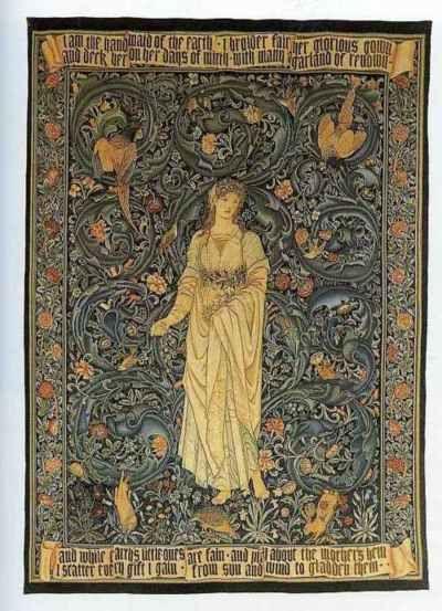Edward Burne Jones Tapestries ~ Flora, 1885.
