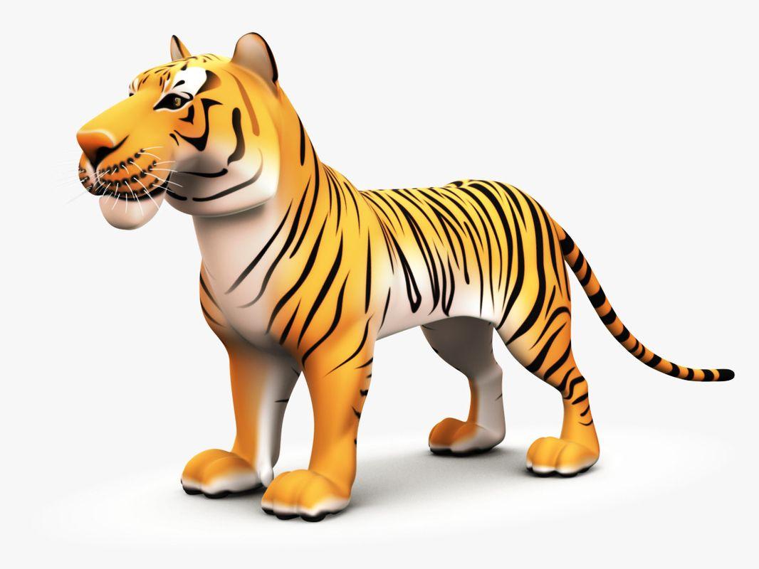 Cartoon Tiger 3d Obj Cartoon Tiger Cartoon Lion Sculpture