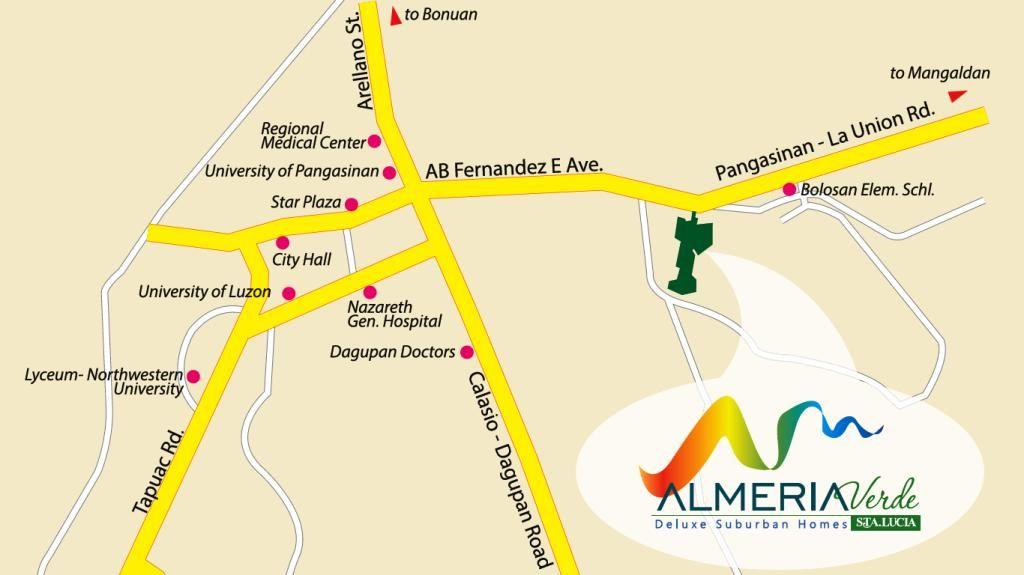 Vicinity Map Of The Philippines Almeria Verdei Vicinity Map | Properties For Sale in Philippines
