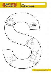 S 010 Litere De Colorat Pentru Copii Pinterest Autism