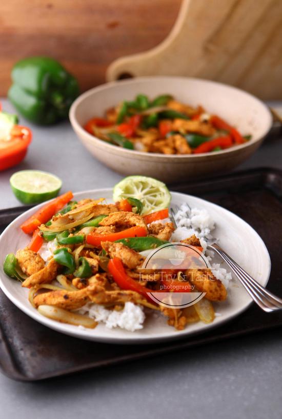 Simple Chicken Fajitas Fajitas Masakan Makanan