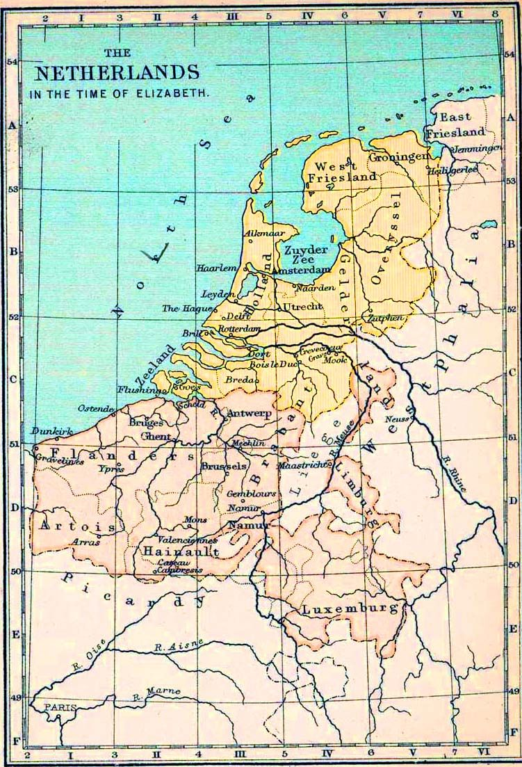 Seven new Dutch databases to searech over five centuries Map of