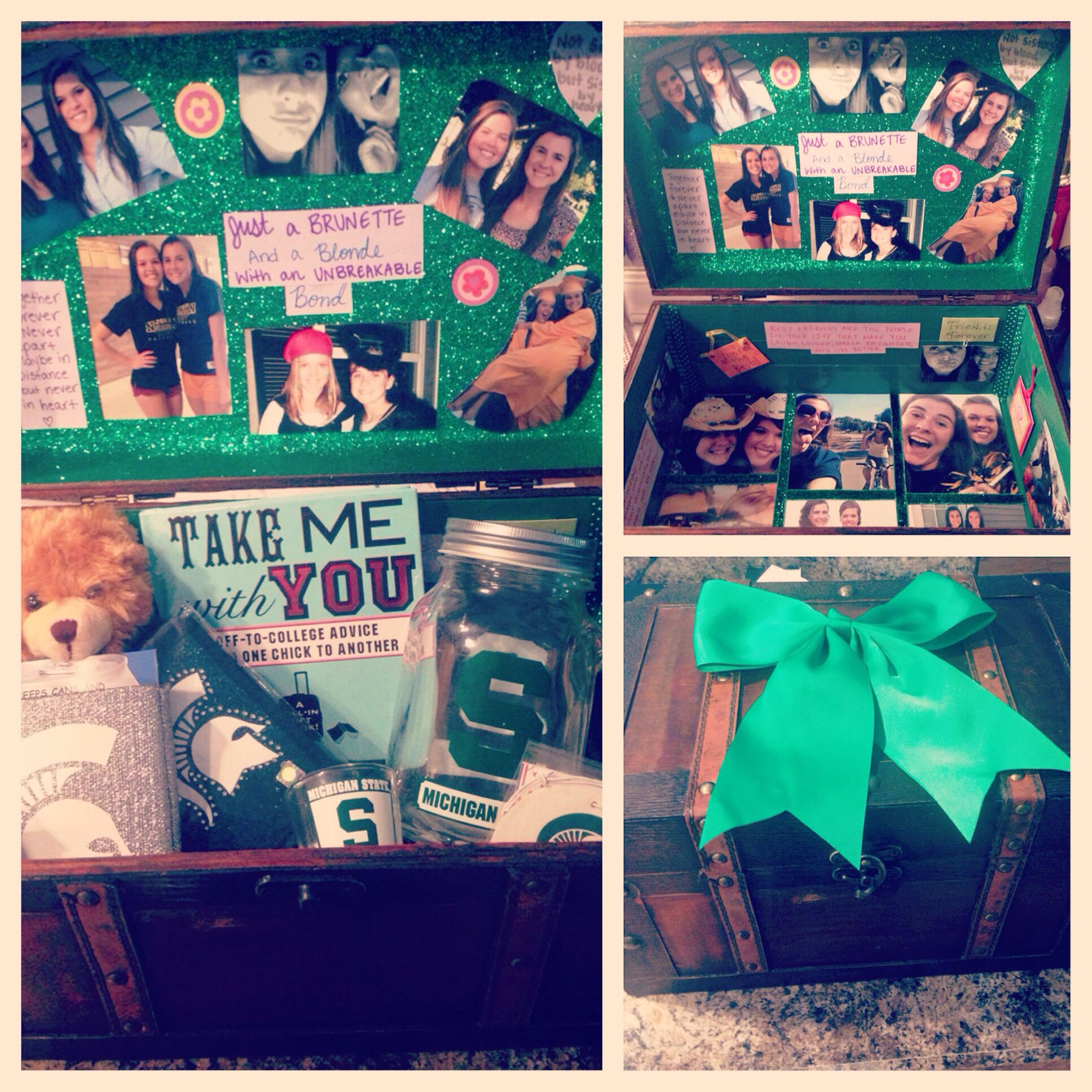 Memory Box For A Going Away Gift #memorybox #MSU #bestfriends #distance