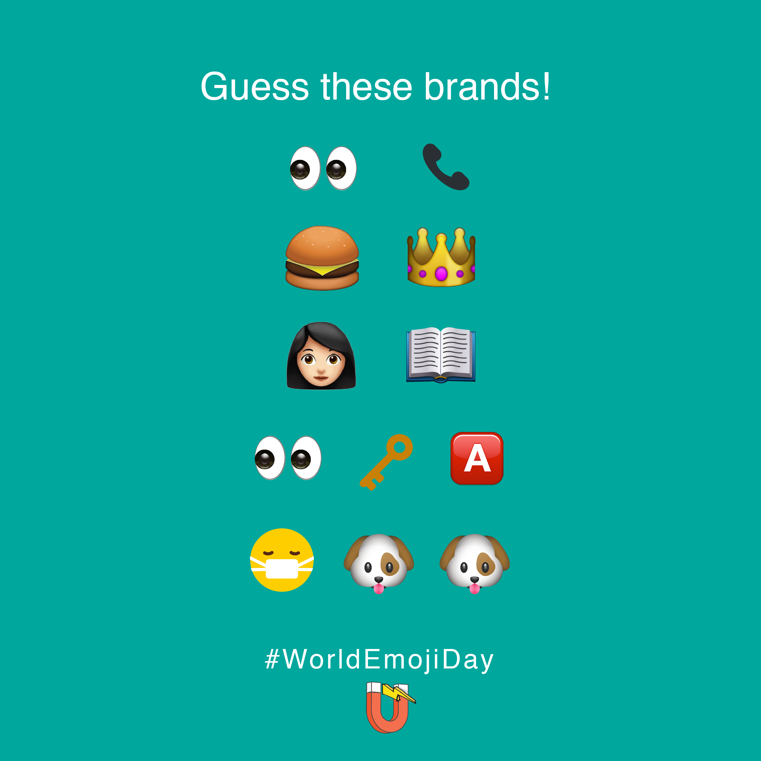 This World Emoji Day We Celebrate Brands That Redefined Marketing Guess The Name Of These Iconic Bran World Emoji Day Social Media Marketing Services Inbound