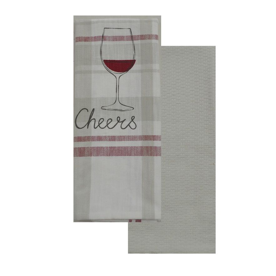 "Food Network™ ""Cheers"" Kitchen Towel 2-pack"