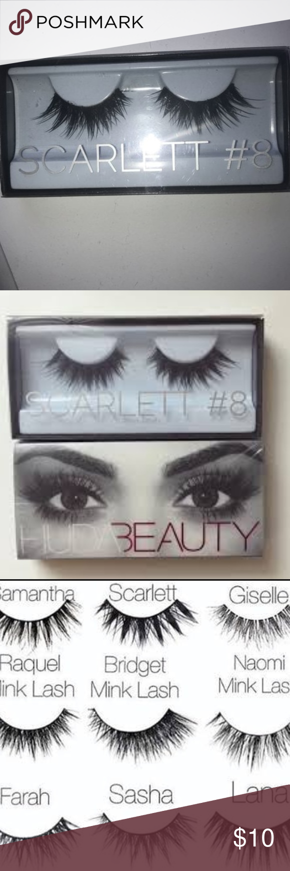 06640f05cb9 HUDA Beauty Classic False Lashes- Scarlett # 8 New, used only once as a