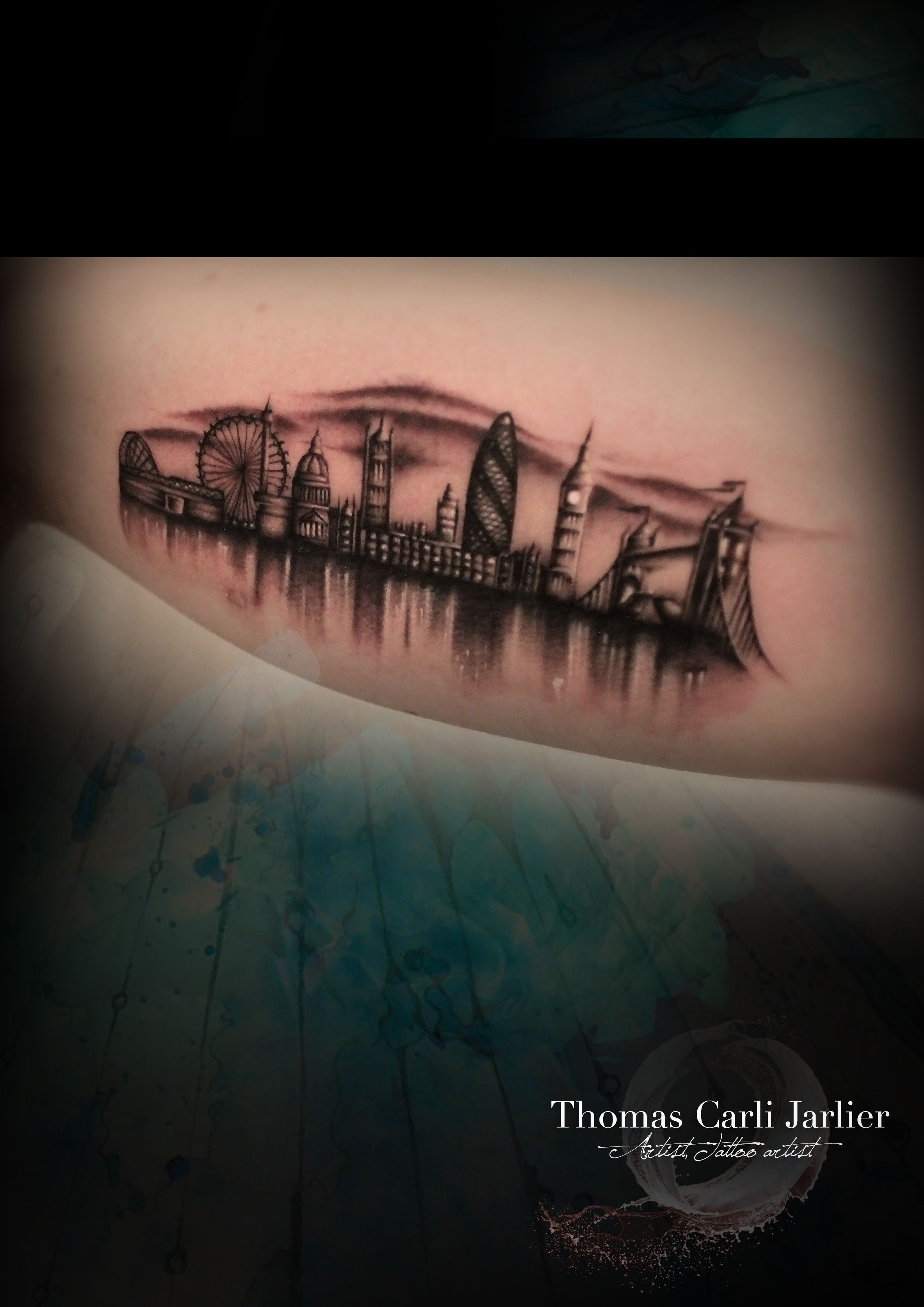 london skyline tattoo get inked pinterest london skyline tattoo skyline tattoo and tattoo. Black Bedroom Furniture Sets. Home Design Ideas