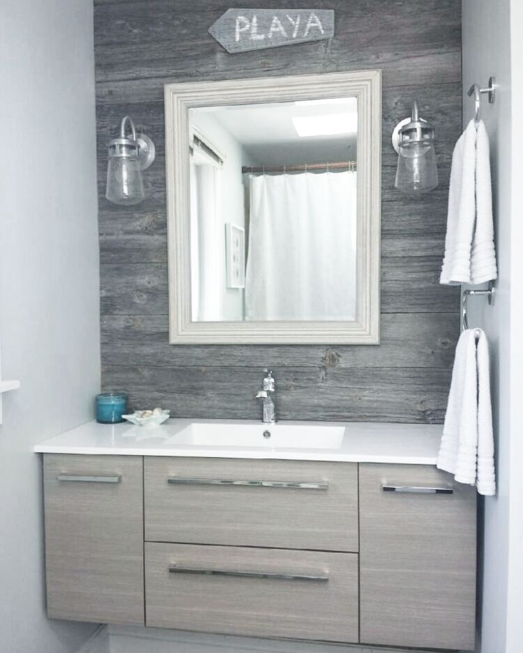 Classic Grey Reclaimed Barn Board Feature Wall In A