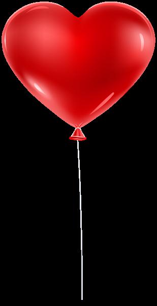 Red Balloon Heart Transparent Clip Art Bolo Com Plaquinhas
