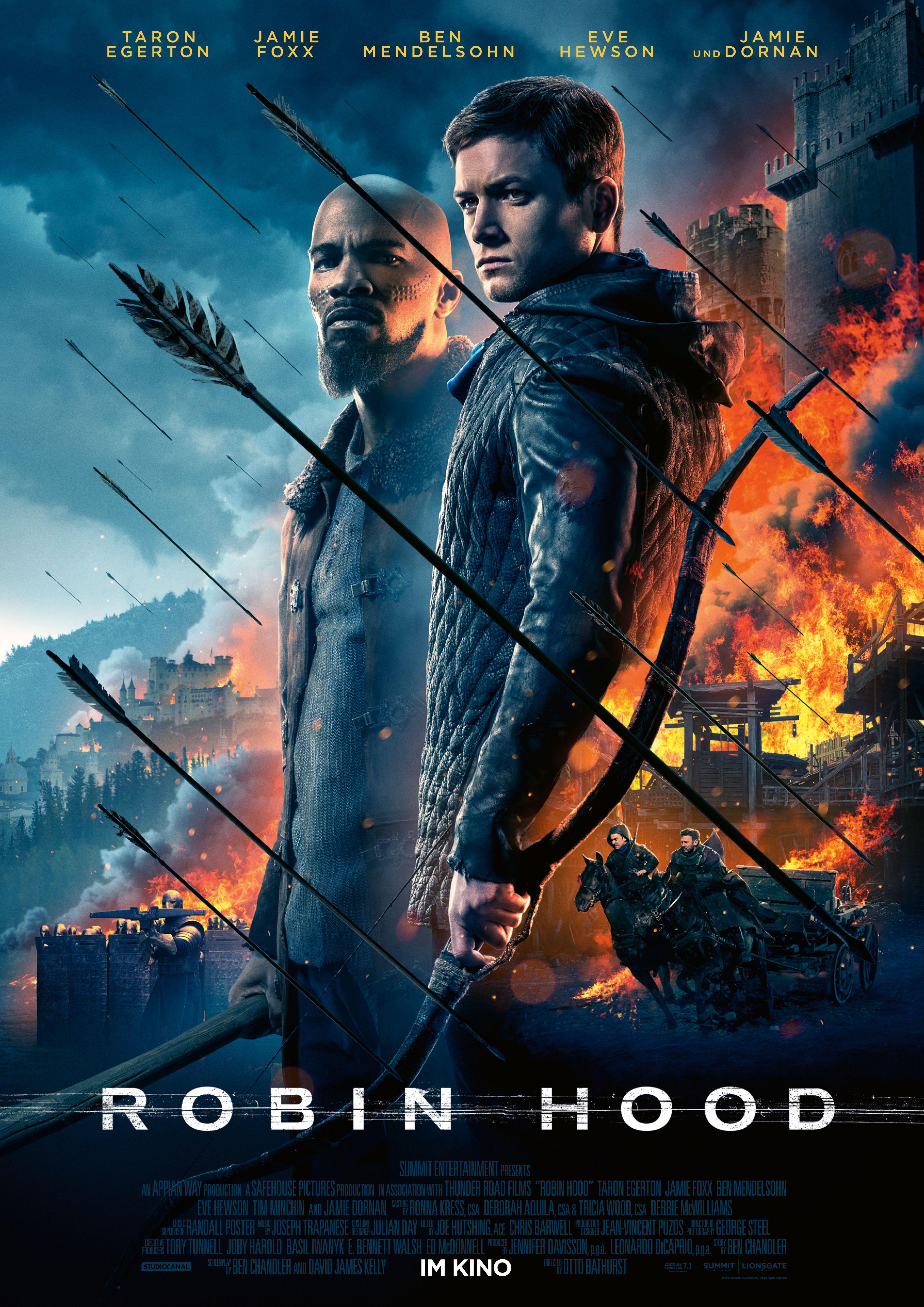 Deutsches Poster Zur Kino Neuauflage Robin Hood Mit Taron Egerton Free Movies Online Full Movies Online Free Movies Online