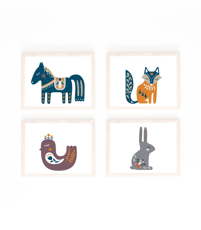Swedish Folk Art Printable Scandinavian Folk Art Prints Etsy In 2020 Scandinavian Folk Art Etsy Art Prints Scandinavian Quilts