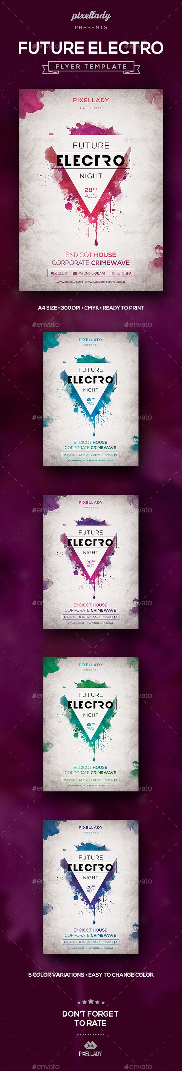 Future Electro Flyer  Electro Music And Flyer Template