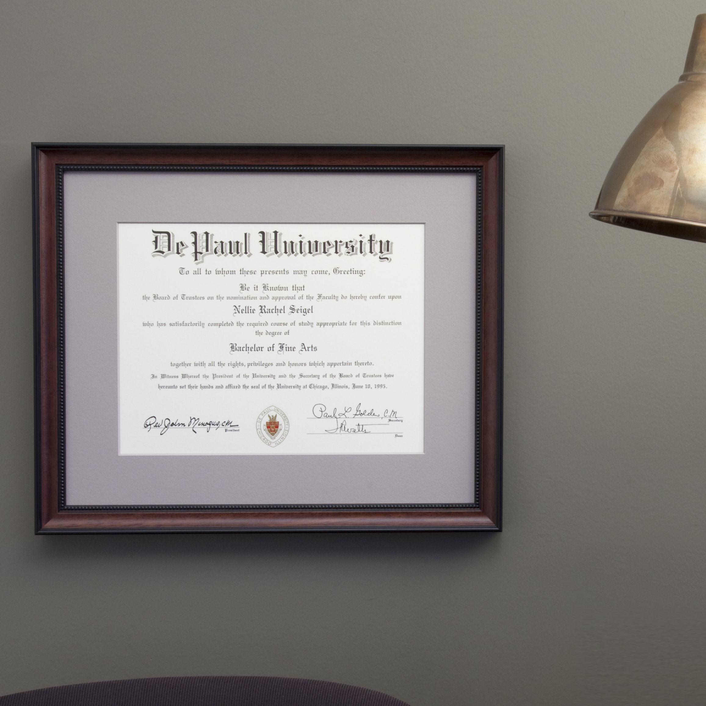 Artists Frame Service | DePaul Diploma | Diploma Frames | Pinterest