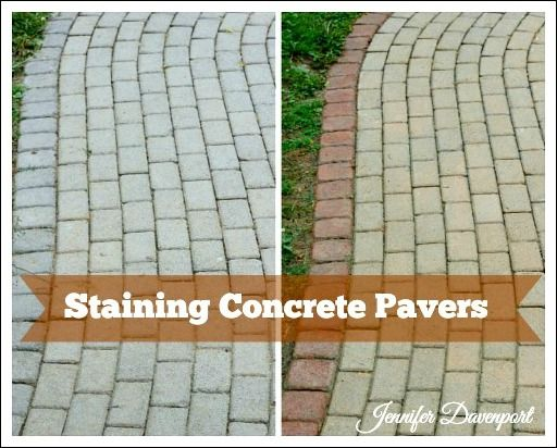 Superieur Concrete Patio Pavers Made Into A Beautiful Sidewalk! Learn How To Update  Pavers With Stain!