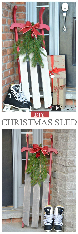 Diy christmas sleigh christmas sled christmas decor and holidays christmas sled plans solutioingenieria Choice Image